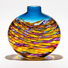 yellow vase glass vases glass vessels artful home