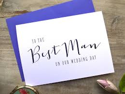 Wedding Day Cards From Groom To Bride Modern Text U0027to The Best Man On Our Wedding Day U0027 Card By Sweet Pea