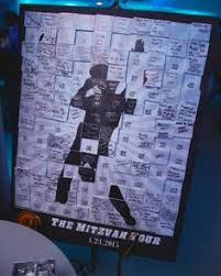 bar mitzvah sign in boards neon graffiti bat mitzvah cards on brick wall kelsey crews