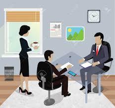 travaux de bureau réunion d affaires isométrique dans le bureau design plat réunion