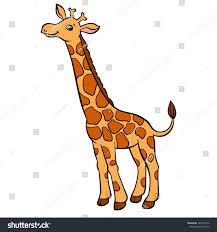 cartoon wild animals kids little cute stock vector 420521656