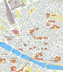 Map Of Florence Italy Florence Map English Map With Inside Floor Plans Of Historic