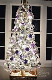 White Silver Christmas Decorations by A Purple White And Silver Themed Christmas Tree Plum Doodles