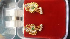 golden earrings earrings design light weight earrings design golden earrings