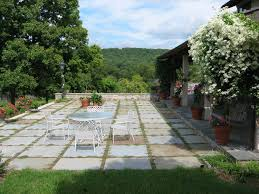 pleasant flagstone patio come with dark grey and yellow flagstone