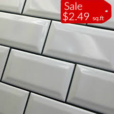 Beveled Subway Tile X White Kitchen BacksplashTile Discount Store - Backsplash tile sale