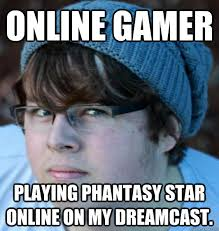 Online Memes - online gamer hipster phantasy star online know your meme