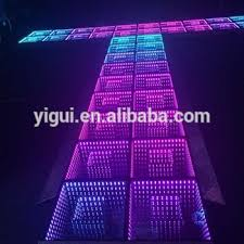 popular wedding decorations light up 3d dj led floor