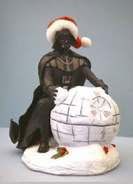 wars christmas decorations fabriche darth vader with snowball wars christmas