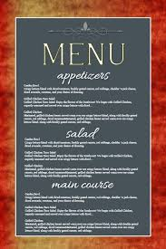customizable menu templates 57 best restaurant poster templates images on