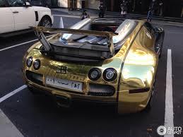 bugatti chiron gold golden bugatti veyron grand sport from saudi arabia the saudi