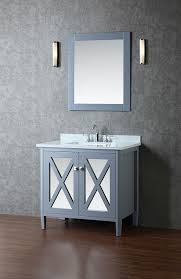 Bathroom Vanities And Mirrors Sets Ariel Summit Single 36 Inch Modern Bathroom Vanity Set Whale Grey