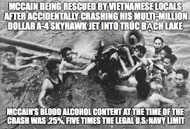mccain during the vietnam war imgflip