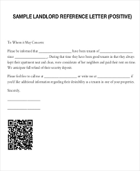tenant recommendation letter letter template