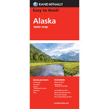 Alaska State Map by Rand Mcnally Easy To Read State Folded Map Alaska