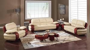 Red Leather Sofa Sets Living Room Modern Red Living Room Decoration With Orange Rug