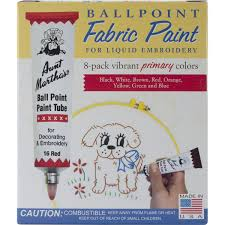 amazon com aunt martha u0027s ballpoint 8 pack embroidery paint
