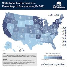Tax Map From Wyoming To New York America U0027s Best And Worst States For Tax