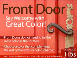 no need to make the front door match the shutters choose another