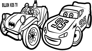 coloring pages spiderman batman buggy lightning