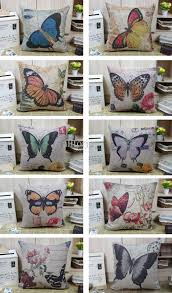 novelty country style floral flower butterfly pattern linen cotton