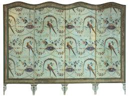 Four Panel Room Divider Exquisite A French Neoclassical Four Panel Wallpaper Screen Decaso