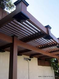 Vinyl Patio Roof Walnut Vinyl Wood Look Fencing Gates Railing Patio Covers Etc