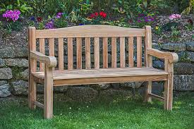solid teak park memorial bench garden furniture land