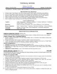 resume sle formats resumes sle resume for logistics manager pdf sles free format