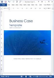 sample business case template ms word