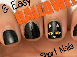 38 cute easy nail designs for halloween stylepics