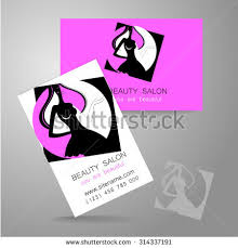 Beauty Spa Business Cards Beauty Logo Design Corporate Identity Template Stock Vector