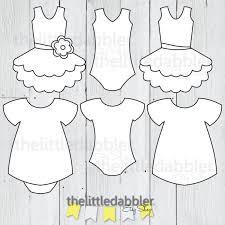 dress and tutu templates baby shower onesie baby dress