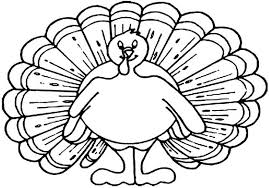 thanksgiving turkey outline printable free coloring pages
