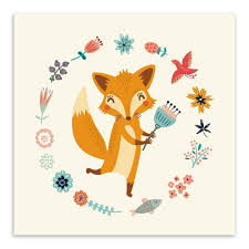 Kids Room Prints by Small Animals Harvest Art Poster Print Simple Canvas Wall Art