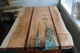 wood slab maple live edge wood slab dinning table with jatoba black