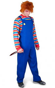 Evil Doll Halloween Costume Chucky Doll Men U0027s Costume Evil Chucky Men U0027s Halloween Costume