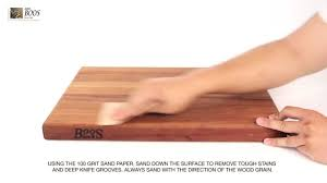 how to renew the surface of your boos block cutting board youtube