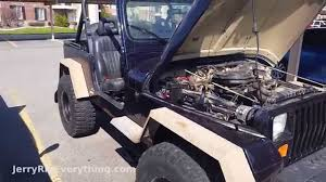 old jeep wrangler 1990 oil change on a 1990 jeep wrangler yj jerryrigeverything youtube