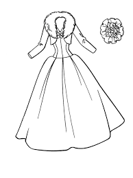 printable wedding dress coloring pages girls coloring point