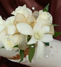 white orchid corsage white sweetheart and white orchid corsage gold