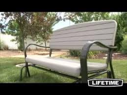 lifetime glider bench youtube