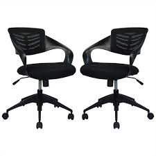 comfort grove mid back office chair in black set of 2