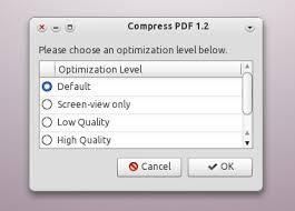 Compress Pdf Compress Pdf 1 4 Nautilus Script Updated Web Upd8