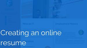 Make Online Resume For Free On Line Resume Resume For Your Job Application