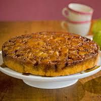 polenta and pear upside down cake recipe