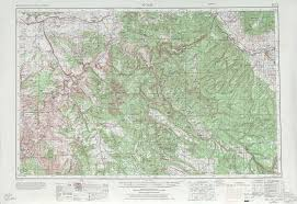 Topography Map Moab Topographic Maps Co Ut Usgs Topo Quad 38108a1 At 1