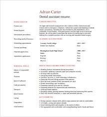 dental assistant resume examples 4 sample 5 best dental
