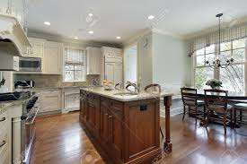 Kitchen Center Island Kitchen With Center Island And Eating Area Stock Photo Picture