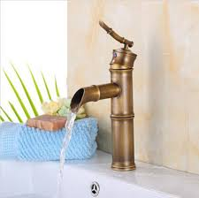 Waterfall Style Faucet Discount Bamboo Style Bathroom Faucet 2017 Bamboo Style Bathroom